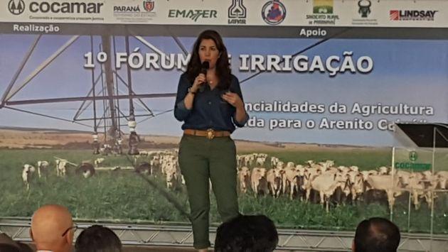 Diretora da ASPIPP palestrou no 1º Fórum de Irrigação de Paranavaí