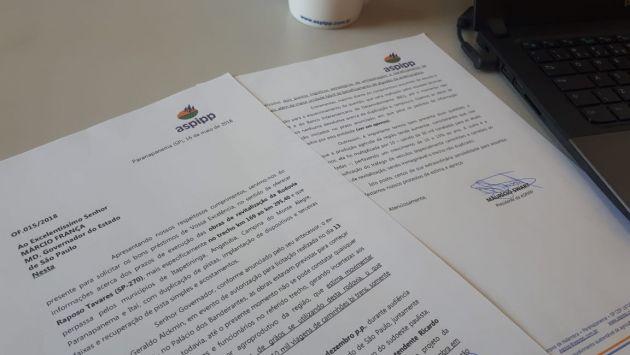 Diretoria da ASPIPP cobra informações do governador sobre atraso nas obras da Raposo Tavares